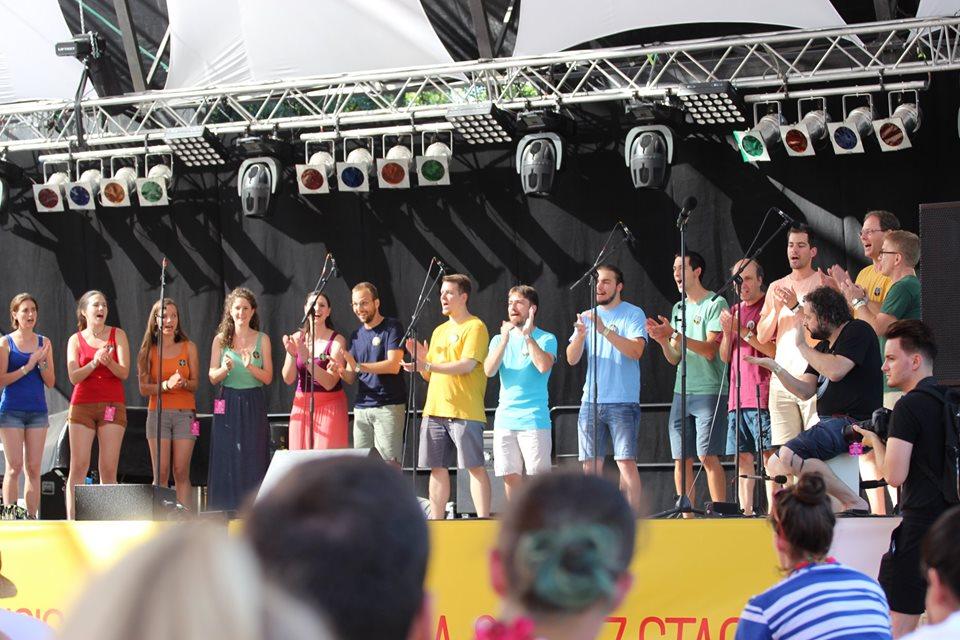 A KVVK a Szigeten. Forrás: Facebook/KVVKamarakórus